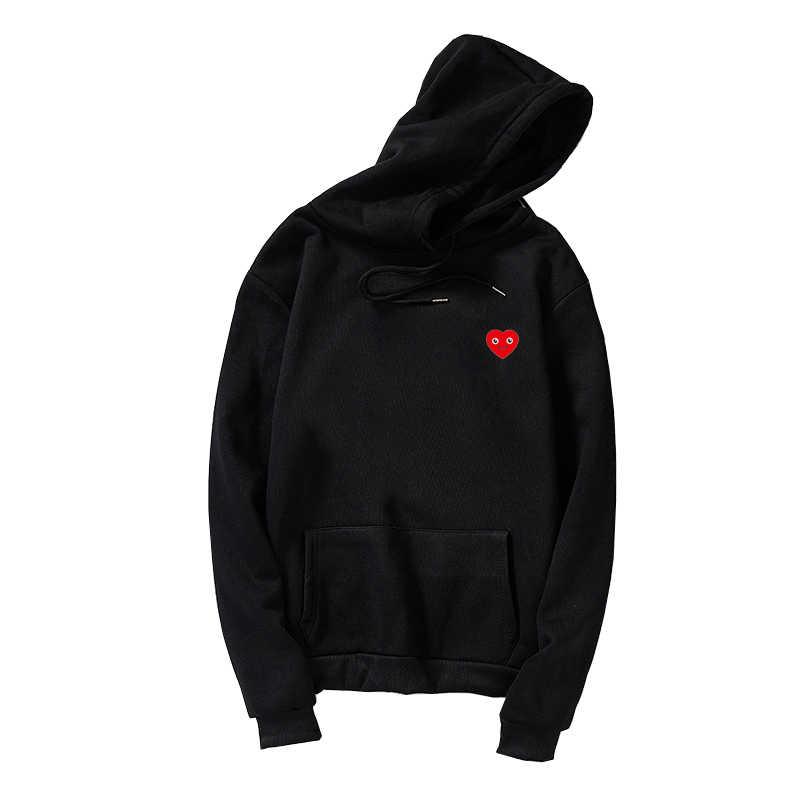 Nova harajuku oversized hoodies feminino adorável kawaii smil rosto coração impressão com capuz casual streetwear solto velo unisex moletom