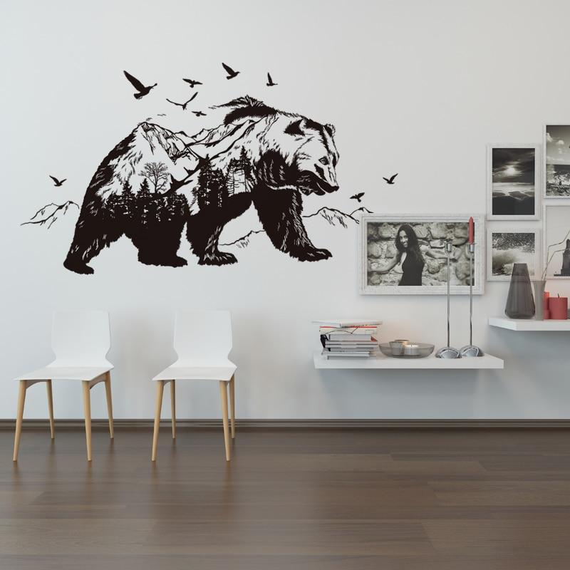 Fundecor] Mountain black bear animal wall stickers camera dei ...