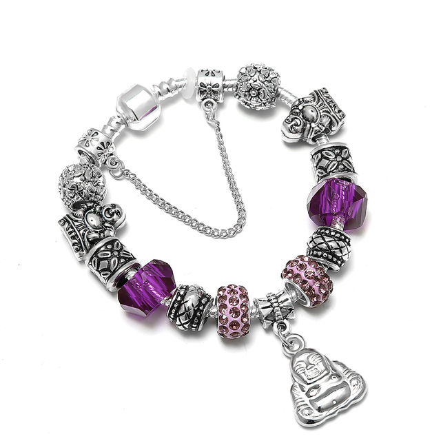 SPINNER Luckly Religion DIY Charm Bracelet Maitreya Purple Crystal Brand  Bracelet for Women Jewelry Gift-in Charm Bracelets from Jewelry &  Accessories