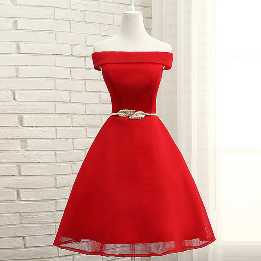 Women Ladies Sleeveless Wedding Party   Dress   Boat Neck Chiffon Elegant Short   Bridesmaid     Dress   A-Line Prom Gown with Sash