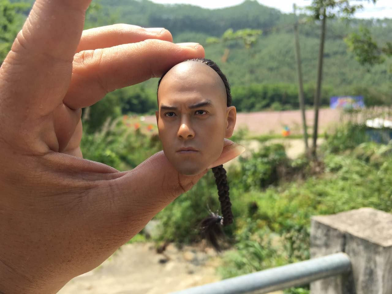 Huang Feihong has a dream hero Eddie Peng version of Huang Feihong hair version of soldiers who model doll head spot рекламный стенд hehe huang bamboo a3