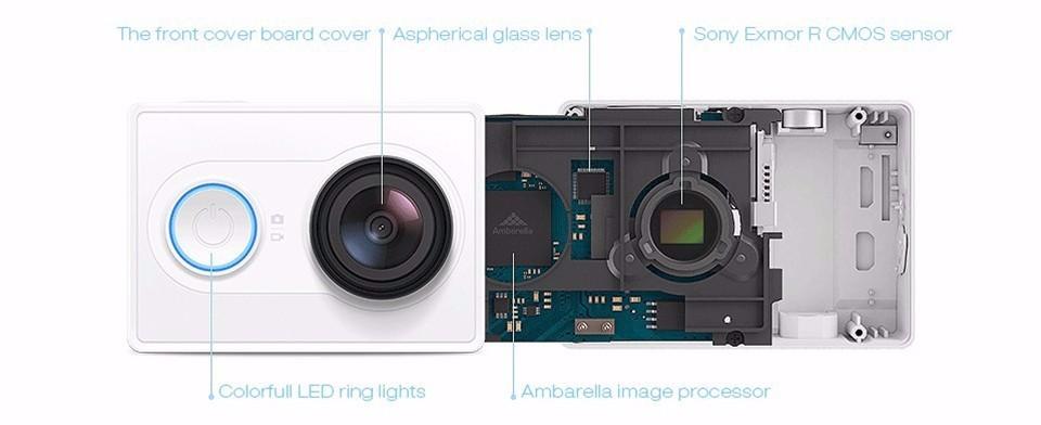 [International Edition]Original Xiaomi YI Action Camera Xiaoyi 1080P Sports Camera WiFi 3D Noise Reduction 16MP 60FPS Ambarella 10