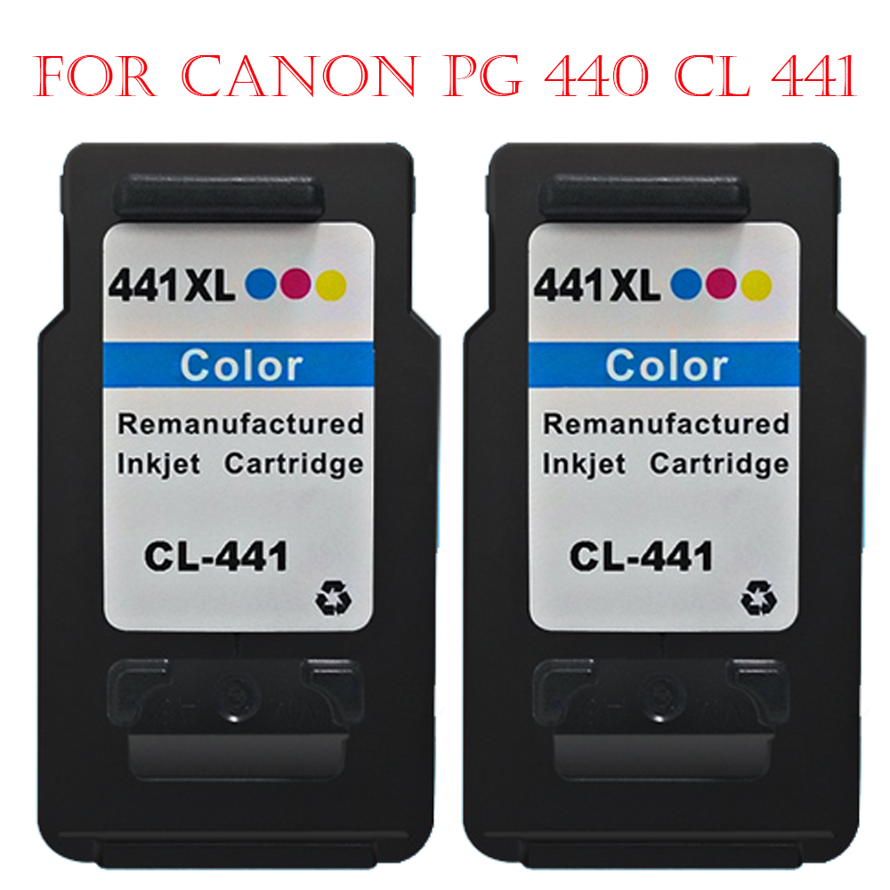 ФОТО Hisaint Listing Hot For Canon CL 441CL-441 Ink Cartridge PIXMAMG4240 MG4140 MG3540 MG3240 MG3140 MX534 MG2240 MG2140 Printer 2PK