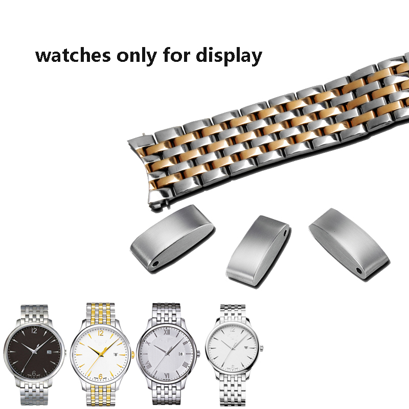 Image 3 - PEIYI Quality stainless steel watchband 20mm silver and rose gold metal wristband arc watch chain replacement for Tissto T063Watchbands   -