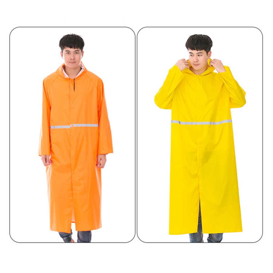 Impermeable de PVC para mujer Poncho largo a prueba de agua al aire libre para hombre lluvia capa cubierta abrigo hombre Poncho macho impermeables monos con capucha RBY020