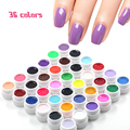 36 Pots/Set Pure Colors Decoration UV Gel Nail Art Tips Extension Nail Gel French Manicure Nail Gel Polish