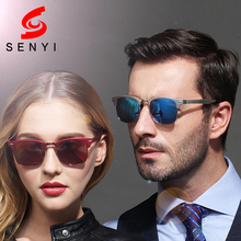New Fashion Sunglasses Unisex Polarized Lens Anti Reflective Brand Design Frame Alloy Driving Glass Lady Summer Sun Glasses 240