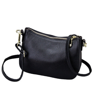 Image 5 - Genuine Leather Small Crossbody Bags For Women Fashion Shoulder Bag Ladies Messenger Handbags Luxury Crescent Purse Tote