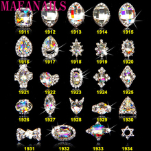 100PCS/lot 3D Silver Frame Nail Art Jewelry Charm Diamond Rhinestones Jewel Gems Alloy Metallic Curved Decorations
