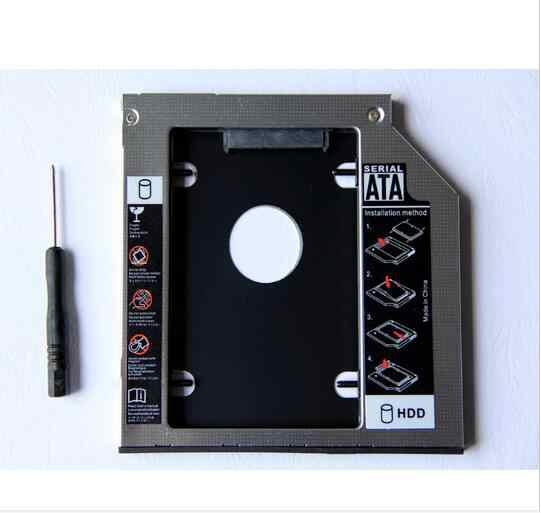 9.5 millimetri 2nd SATA Hard Drive HDD SSD Enclosure Caddy per Dell Inspiron 17R 5721 5737 15R 5537 5521 SU-208CB DV-8A5HH