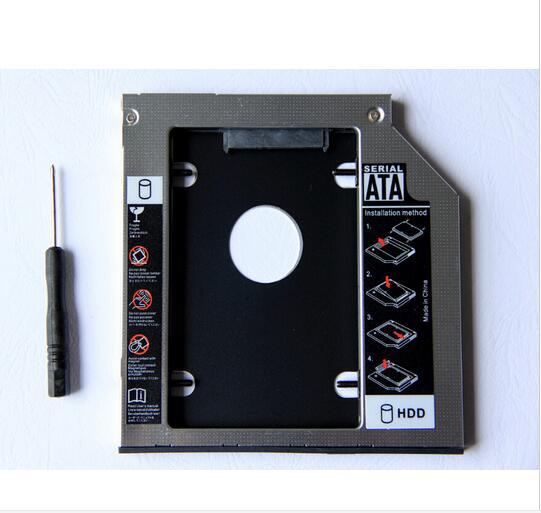 9.5mm 2nd SATA Hard Drive HDD SSD Enclosure Caddy For HP 245 250 255 450 470 G4 G5 G6 GUD1N DVD ODD