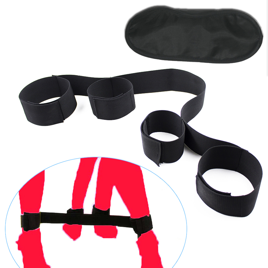 Candiway Blind Mask Hand Ankle Cuff Adult Games Flirting Toys Fetish Bondage Restraints Erotic Sex Toys For Woman Couples