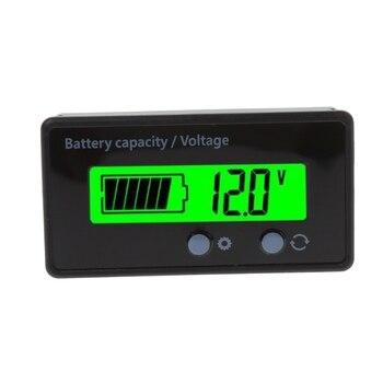 Nuevo indicador de capacidad de batería de litio 8-70V LCD plomo ácido de alta calidad voltímetro probador de voltaje