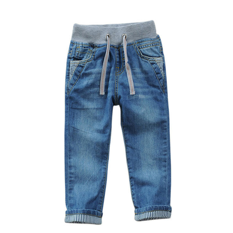2-12Y boys jeans pants 2018 kids denim pants boys children clothing elastic waist spring autumn boys trousers DQ295 banbao