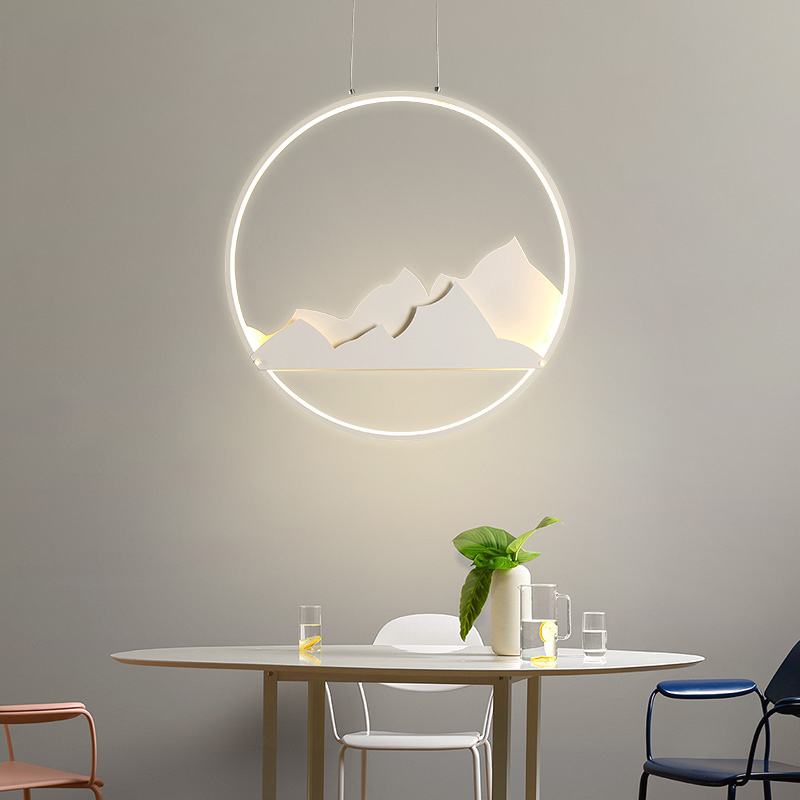 New Creative modern LED pendant lights bedroom study room lights suspension hanging Lights lamparas colgantes Round pendant lamp