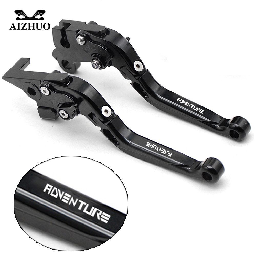 Motorcycle Brake Clutch Levers For ktm 1190 AdventuRe R 2013 2014-2016 990 AdventuRe 2009 ADVENTURE 1050 2016 Folding Extendable 8color cnc brake clutch levers aluminum adjustable motorbike brake lever for ktm 1190 adventure r 2013 2015 super adventure 2015