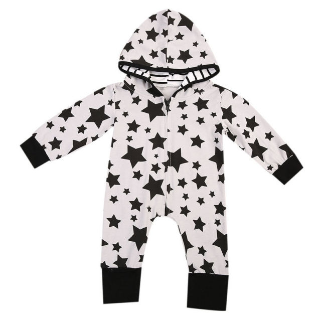 9df667fdc Newborn Infant Baby Boy Girl Autumn Style Star Romper Long Sleeve ...