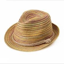 Летние шляпы для женщин мужчин бантом соломы пляж шляпа Джаз Панама-Кейп лодка Богемия путешествия кость