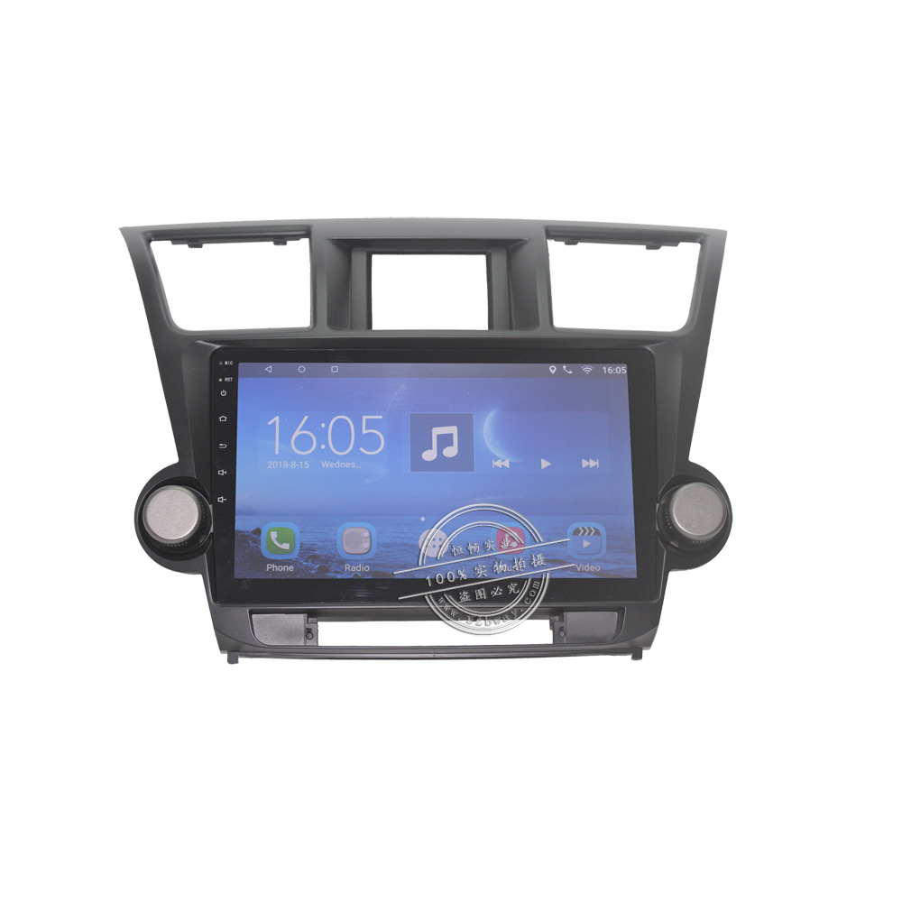 10 1 quot 2 din Car radio for Toyota Highlander Kluger 2008 2012 Quadcore Android 7 0 car dvd player gps navi with 1 G RAM 16G ROM in Car Multimedia Player from Automobiles amp Motorcycles