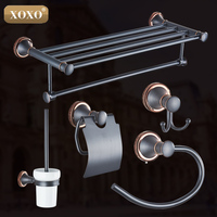 XOXO 2016 Europe Luxury Bathroom Hardware Set copper alloy Dual purpose punch and paste Accessories for Bathroom Improvement