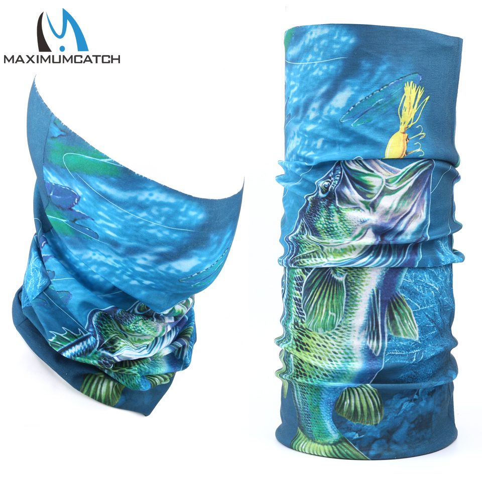 Maxcatch Multi Function Fiske Scarf 3D Digital Print Fishing Headwear Anti-UV Fiske Bandana