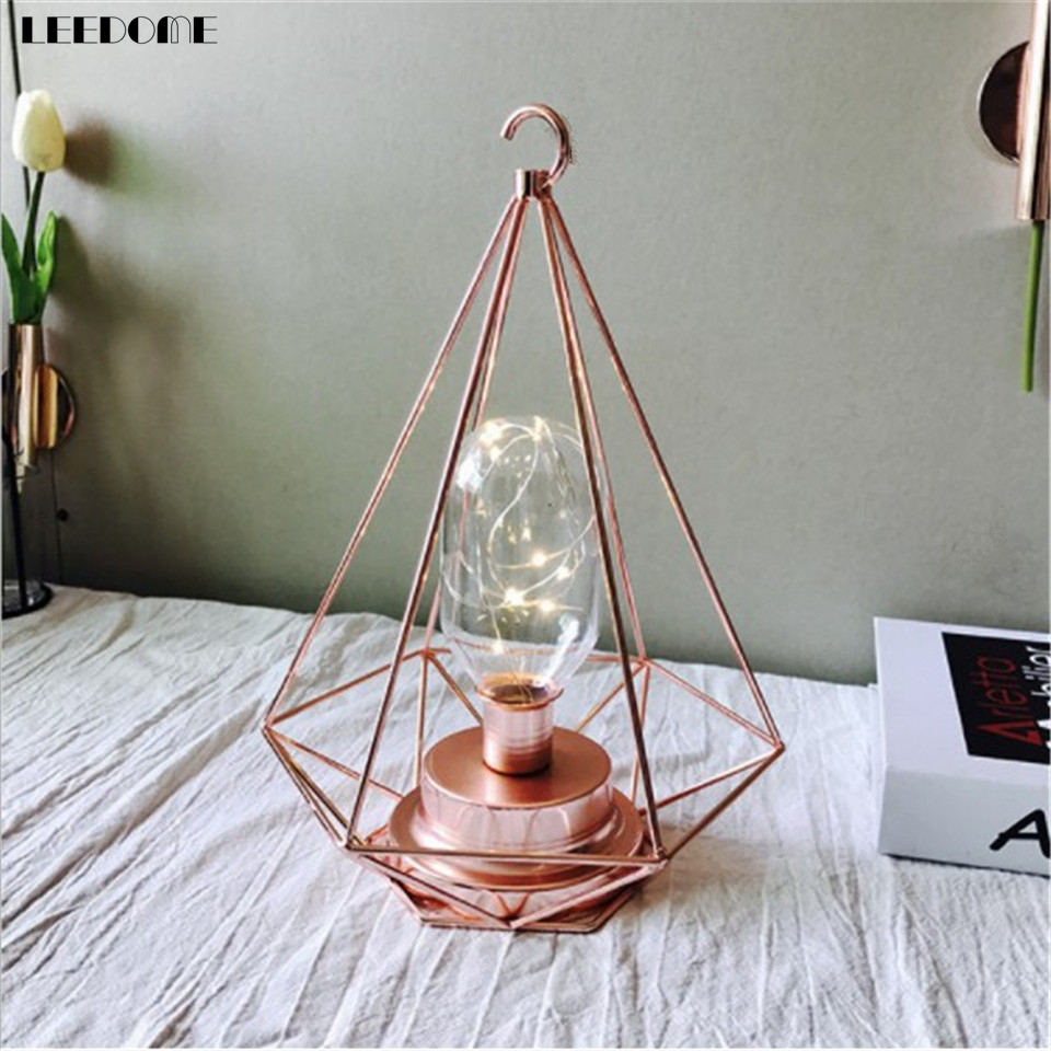 Dropship Minimalist 3D Iron Style With Hook Night Light Black Pink Rose Gold Creative Christmas Home Decoration LED Night Lamp накладной светильник toplight citte tl9131y 01wh