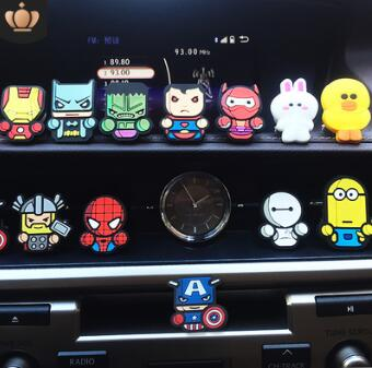 Mix Styles Creative Cartoon Aromatherapy Clip Auto Air Vent Freshener Car Accessories Car Air Fragrance & Deodorant HA152