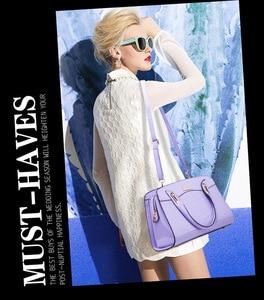 Image 5 - 3 Pcs New Fashion Alligator Women Handbags Patent Leather Ladies Shoulder Bags Female Girl Brand Luxury Crossbody Composite Bag