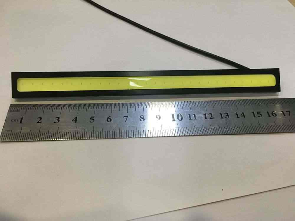 1 pièce 17 cm universel COB DRL LED feux de jour lampe de voiture feux externes Auto étanche voiture style LED lampe DRL