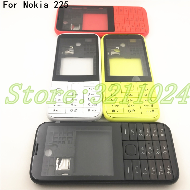 Good quality New Full Complete Mobile Phone Housing Cover Case+English  Keypad For Nokia Asha 225 N225 +Logo|Mobile Phone Housings & Frames| |  - title=
