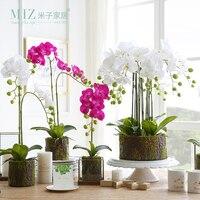 Miz 1 Parça Yapay Çiçek Ev Dekorasyon için Küçük Boy Phalaenopsis Saksı Bitkileri Bahçe Bitkileri Yapay Phalaenopsis