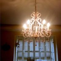 European children's crystal chandelier French garden restaurant light pink wedding room lamp Princess Room bedroom Chandeliers