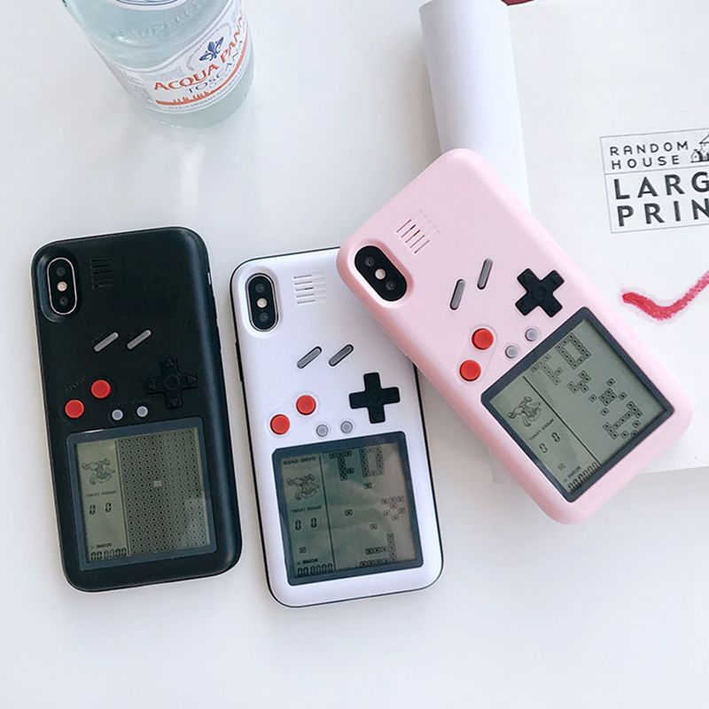 Tetris Game Console Phone Cases For Iphone X 6 6S 7 8 Plus Case TPU Case Unique Multi Classic Game Cover Gift For <font><b>Puzzle</b></font> Child
