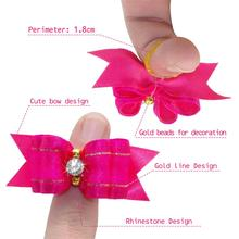 Handmade Designer Dog Hair Bows With Rubber Bands