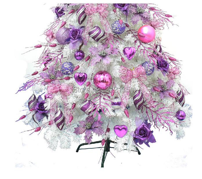 free shipping fashion 210cm eu style white tree pink purple led snow christmas tree set with 1 side accessories 1setlot on aliexpresscom alibaba group