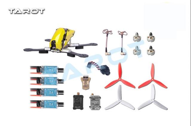 Tarot Robocat TL250c 250mm Carbon Fiber Quadcopter Frame with Mini CC3D FC Motor ESC FPV Camera 5.8G TX RX ormino fpv quadcopter frame combo tarot 250 carbon fiber fpv camera drone antenna 5 8g transmitter rc mini fpv drone motor esc