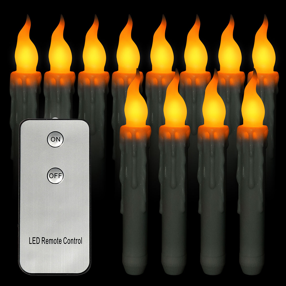Remote Controller Flameless LED Taper Candle Lights Battery Operated Candle Tea Lights For Party Wedding Christmas Decoration