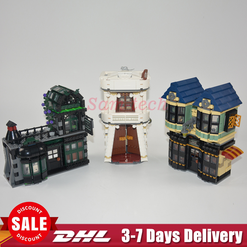 DHL LEPIN 16012 2025pcs Movie Series The Diagon Alley Set 10217 Building Blocks Bricks Educational Model Toys For Children Gifts doinbby store  16012 2075pcs movie