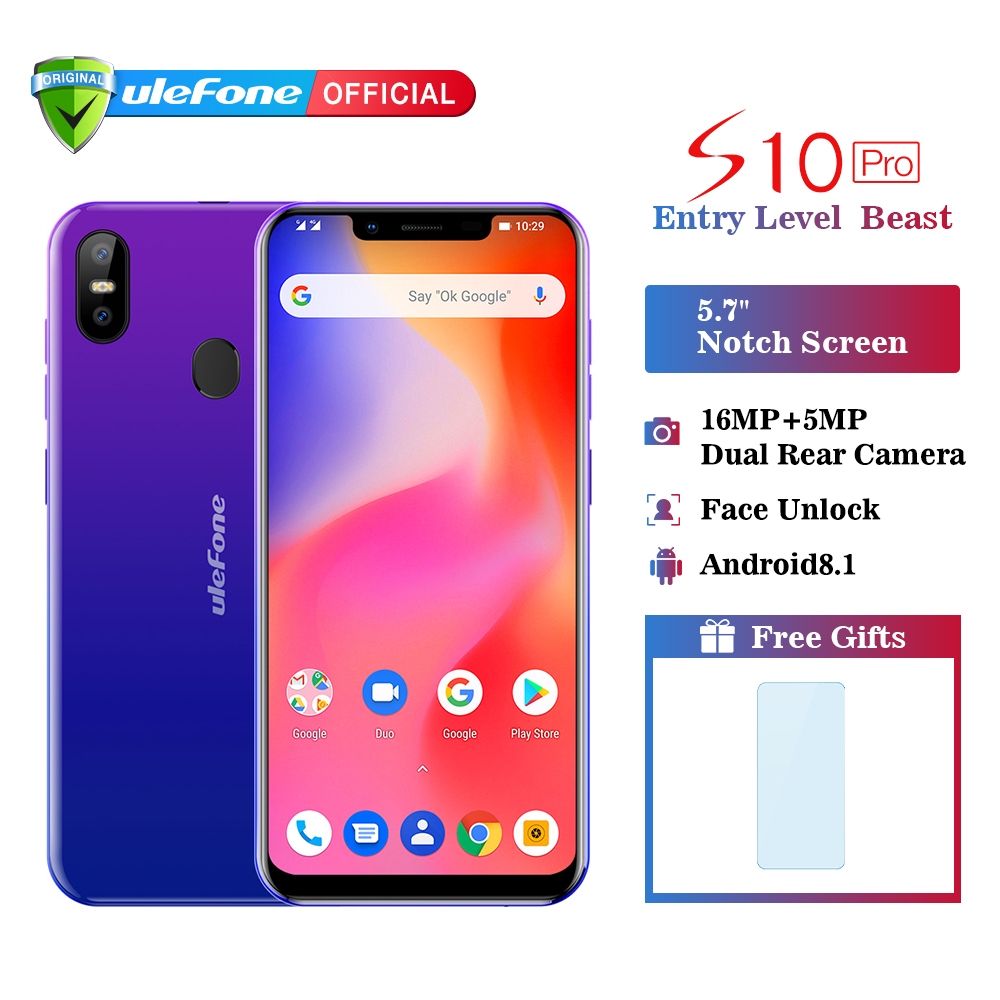 Ulefone S10 Pro Mobile Phone Android 8 1 5 7 inch 19 9 MT6739 Quad Core