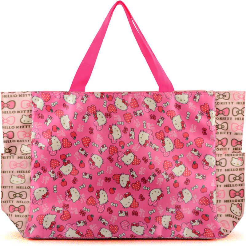 Novo Olá kitty Saco Bolsa Sacos de Ombro Bolsa Tote Shopping Bag XW-2633
