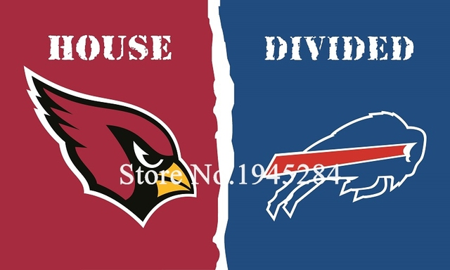 competitive price 29a78 fedfb NFL Arizona Cardinals Buffalo Bills House Divided Flag 3x5ft 150x90cm  Polyester Flag Banner, free shipping-in Flags, Banners & Accessories from  Home & ...