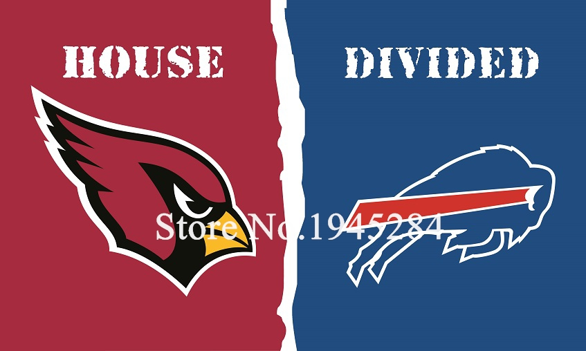 NFL Arizona Cardinals Buffalo Bills House Divided Flag 3x5ft 150x90cm Polyester Flag Banner, free shipping