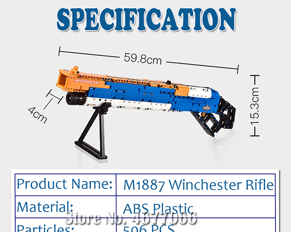 ak47 toy gun toy  gun model 98k gun building blocks bricks educational toys for children boys 16