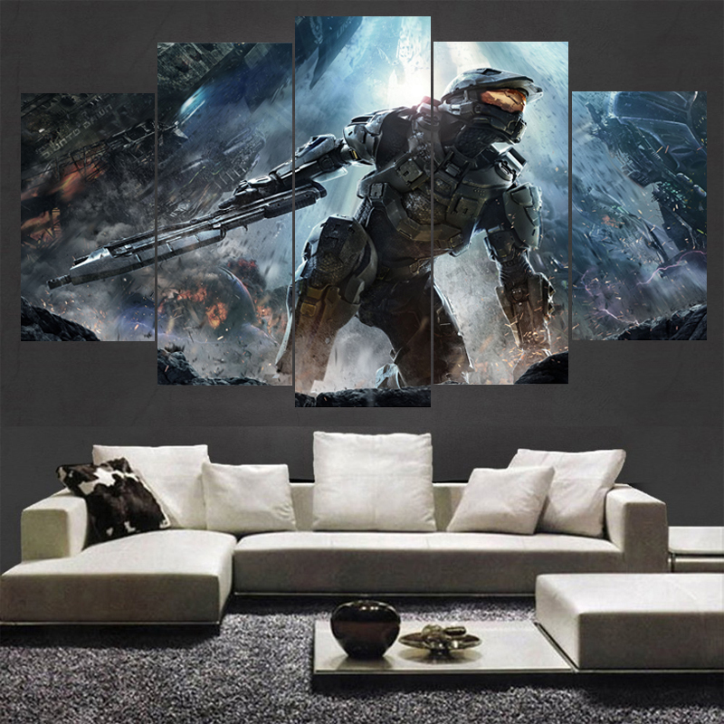 Famous Game Halo Poster Boys Room Deco Canvas Paintings