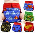 FREE SHIPPING 2017 superhero gladbaby colth diaper  inserts  costume batman superman nappies Adjustable washable