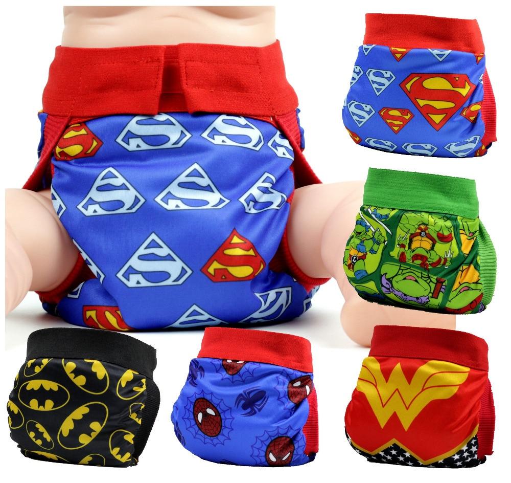 FREE SHIPPING 2017 superhero gladbaby diaper costume batman superman cloth diaper nappies Adjustable washable