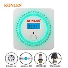 Safety-Sensor Detector Solenoid-Valve Leak-Alarm CH4 Shut-Off 433mhz Natural with Wireless