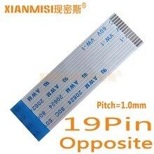19Pin Гибкий плоский кабель FFC противоположной стороны 1,0 мм Шаг AWM 20624 80C 60V Длина 5 см, 8 см, 10 см, 15 см, 20 см, 25 см 30 см 35 см 5 шт