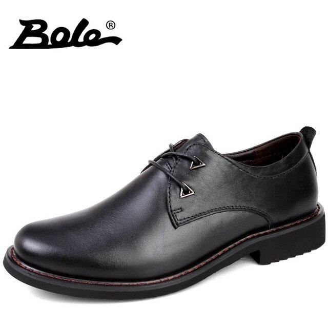 d10df8a44 بولي الأزياء الإيطالية تصميم الأعمال عارضة أحذية الرجال جديد اليدوية جلد  طبيعي الرجال الأحذية جودة عالية