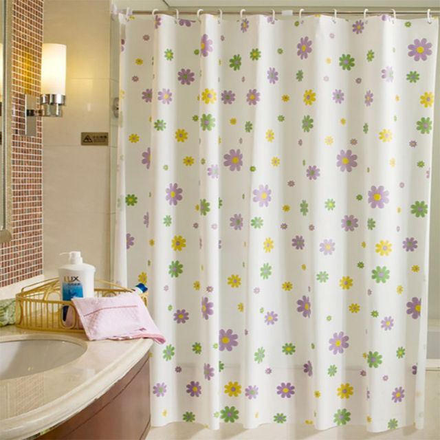 Beach Shell Star Bathroom Waterproof Mildew Proof Shower Curtain With 12pcs Hooks Rings 180cm